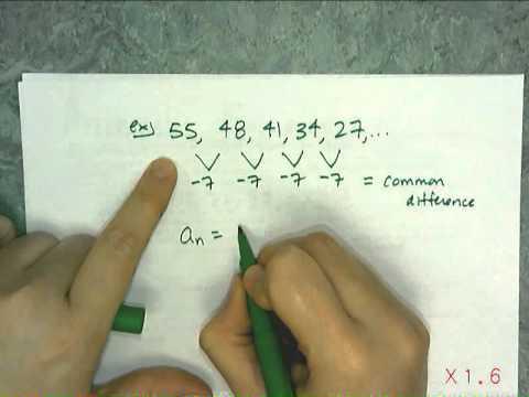 Writing Explicit Formulas For Arithmetic Sequences