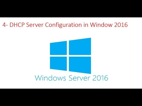 DHCP Server Configuration In Window 2016