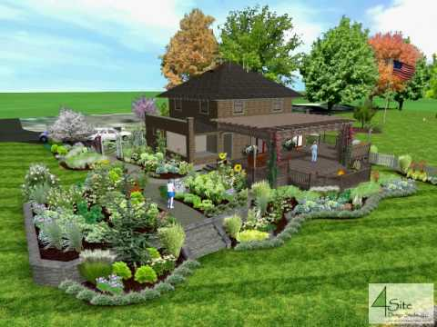 Swansea residence landscape design 3d youtube for 3d garden designs