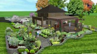 Swansea Residence Landscape Design 3d Model.avi