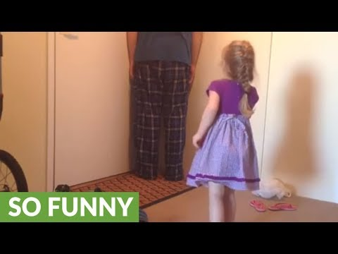 Little girl puts uncle in time out for saying bad word