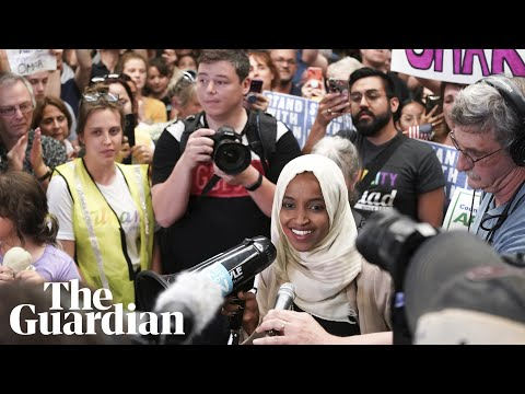 'Welcome home, Ilhan!': supporters greet Ilhan Omar as she arrives in home state