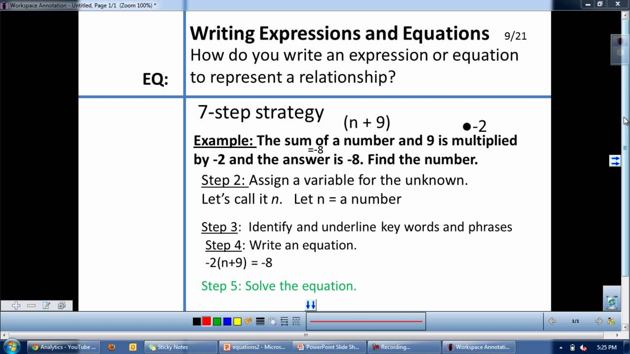 5 step strategy for solving word problems