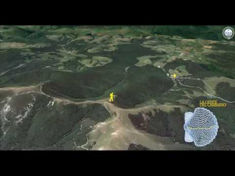 Cammino di Santiago animato con Google Earth - cammino francese, camino frances,  french way