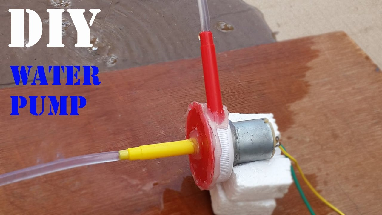 Awesome diy powerful water pump how to make mini water for How to create a motor