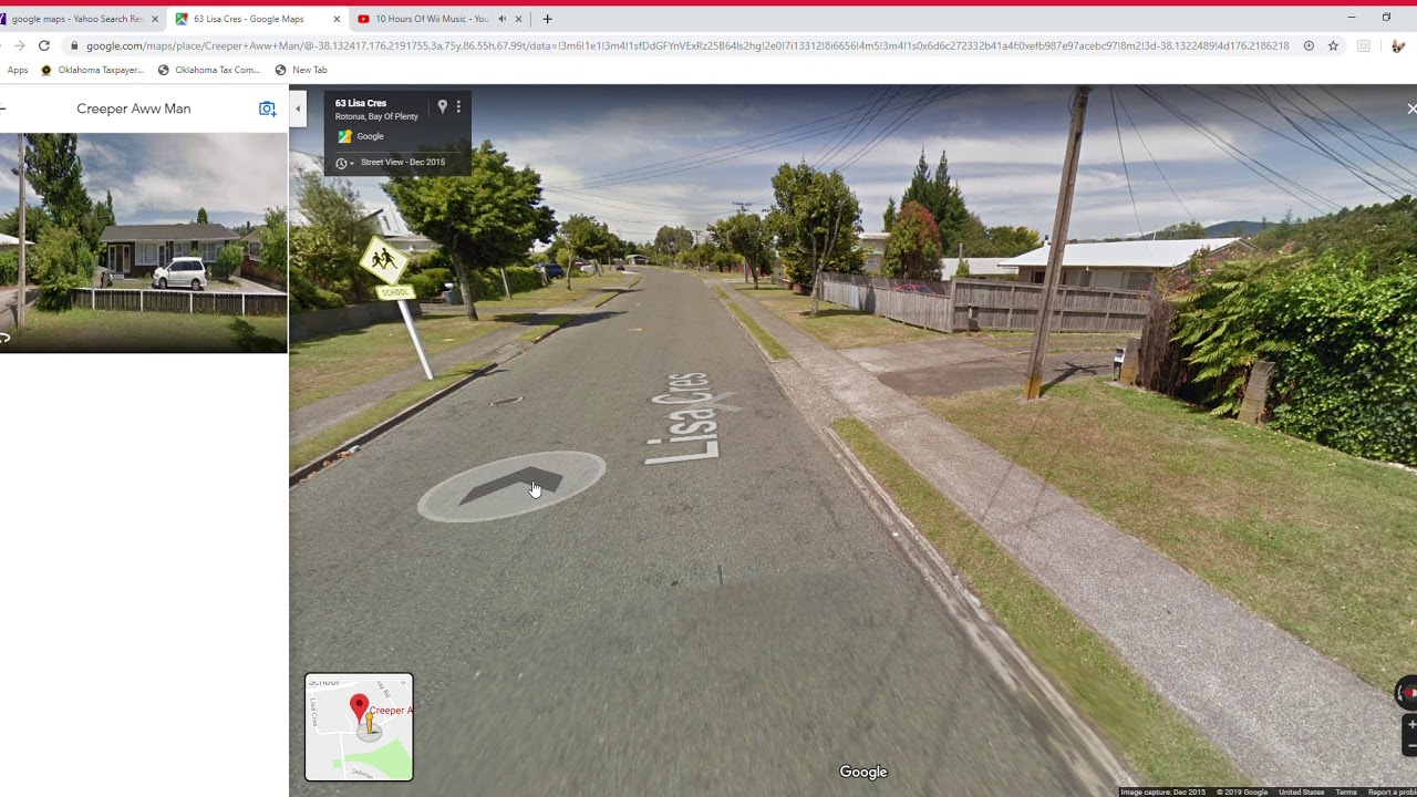 Creeper Aww Man google maps