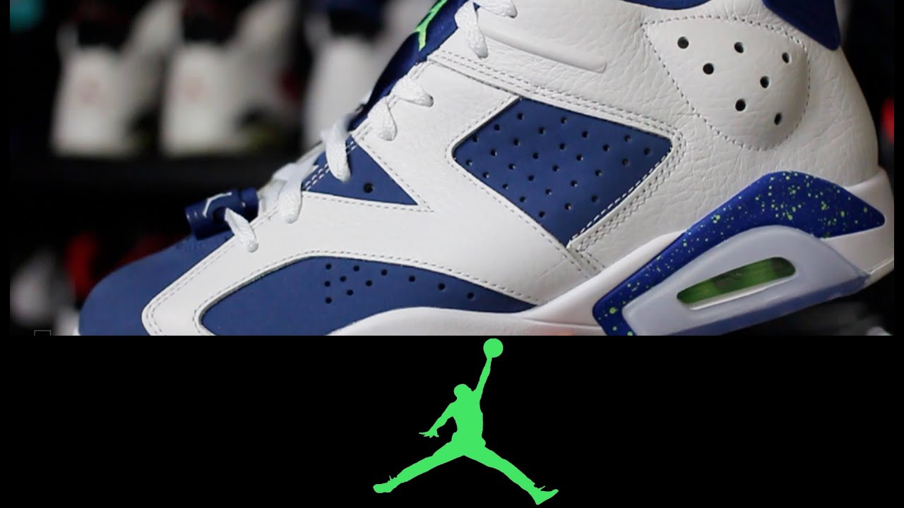 15e37fa2be28f5 Air Jordan 6 Retro Low  Seahawks  - YouTube
