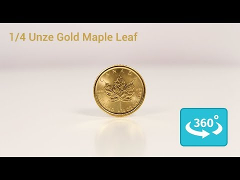 1/4 oz Maple Leaf Goldmünze in 360° Ansicht