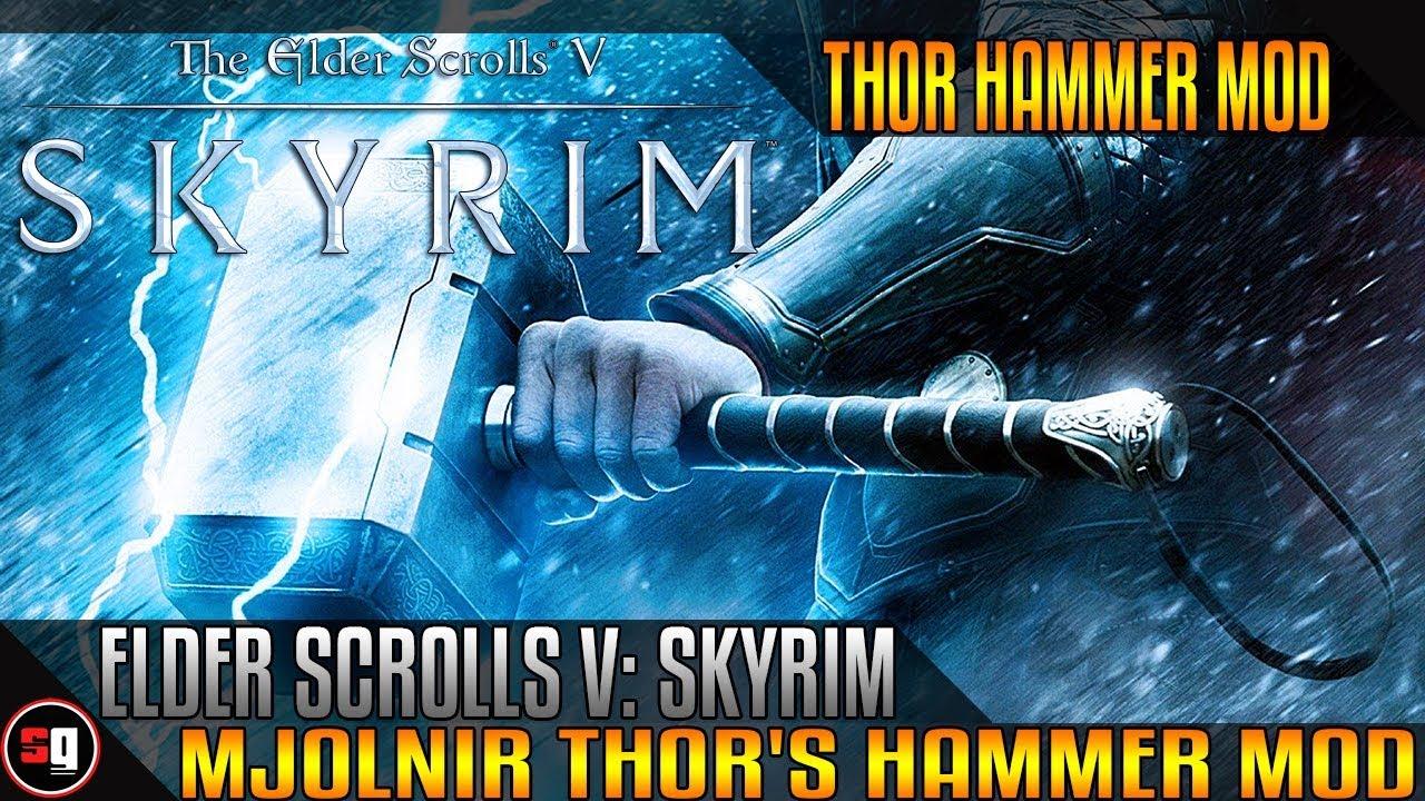 the elder scrolls v skyrim mjölnir thor 39 s hammer mod
