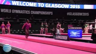 Simone Biles  - Vault 2 - 2015 World Championships - Podium Training