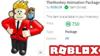 USING THEMONKEY ANIMATION PACKAGE IN ROBLOX!!