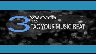 3 WAYS TO TAG YOUR MUSIC BEAT (LETS TALK HOW THEY ARE PLACED)