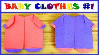 종이접기 아기 옷 ORIGAMI TUTORIALS PA…