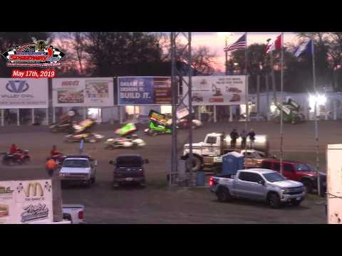 River Cities Speedway NOSA Sprint Car A-Main (5/17/19)
