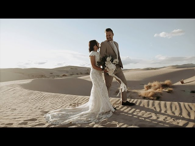 Morgan & Mark's First Look | Little Sahara Sand Dunes