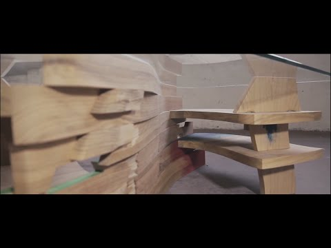 Woodworking process by Tuomas Kuure, art furniture.