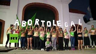 Argentina: Protesta contra la prohibición del aborto