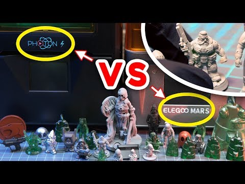 First Time 3D Printing! | Elegoo Mars VS Anycubic Photon S - Quality Comparison