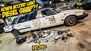 We Bought $10,000+ Worth Of DIESEL Parts For Our $700 Honda STRETCH LIMO (HONDA ROUSEY BEGINS!)