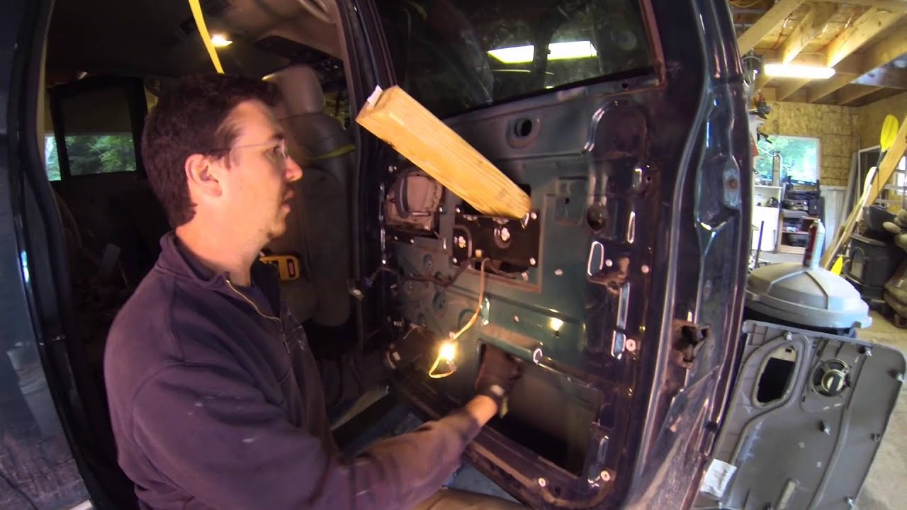 How To Replace A Rear Window Motor Chevy Suburban Youtube