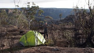 After the fires   Solo hike and wild cliff top camp