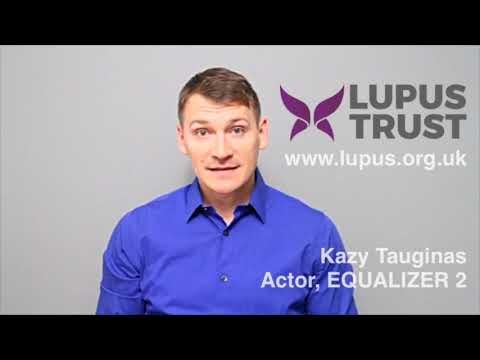 Kazy Tauginas in support of Lupus Trust