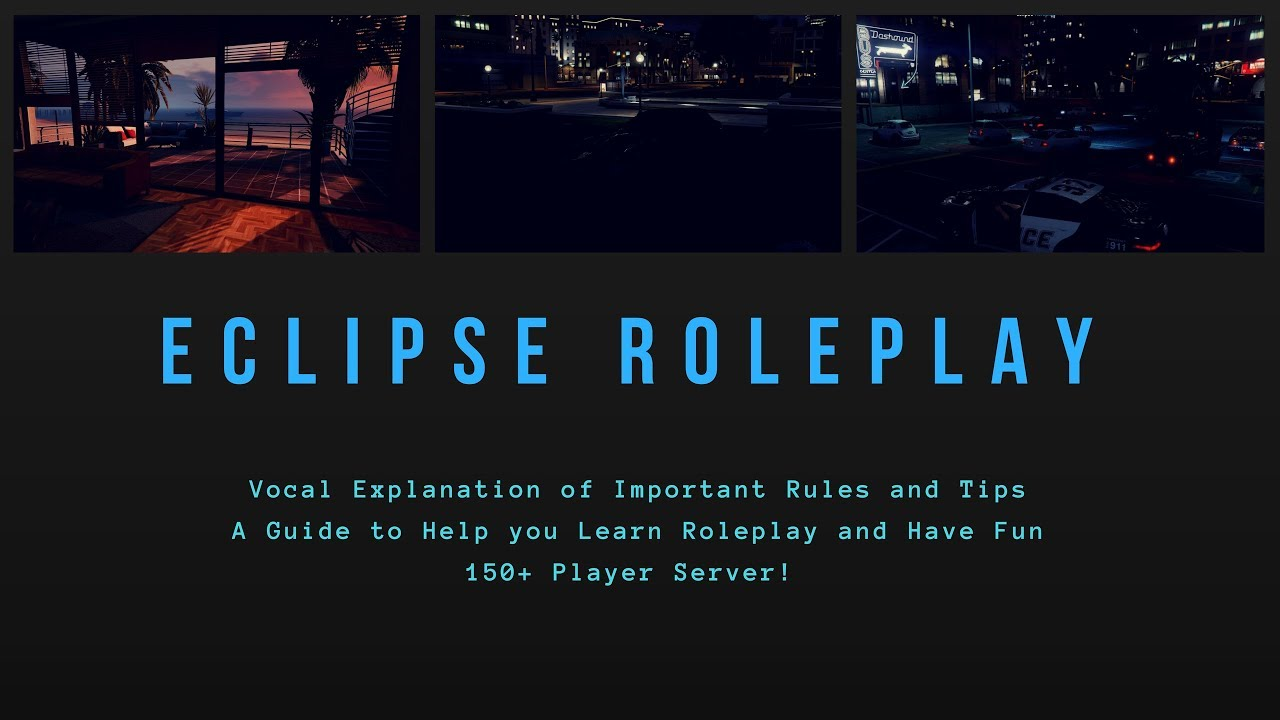Eclipse Roleplay Guide | Server Rules Explained | GTA V(Timestamps)