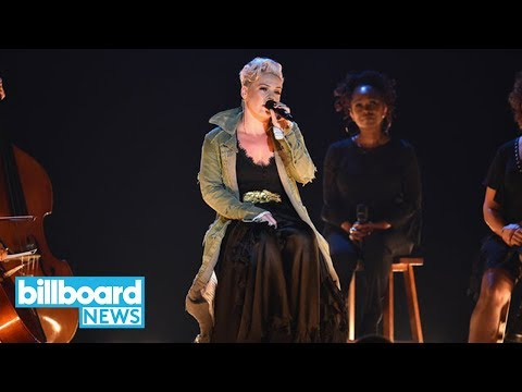 Pink Delivers Heartfelt 'Barbies' Performance at 2017 CMAs | Billboard News