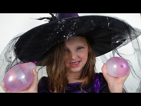 Thumbnail: Water Balloon Fight In house Annabelle The Witch vs Victoria & Daddy Toy Freaks
