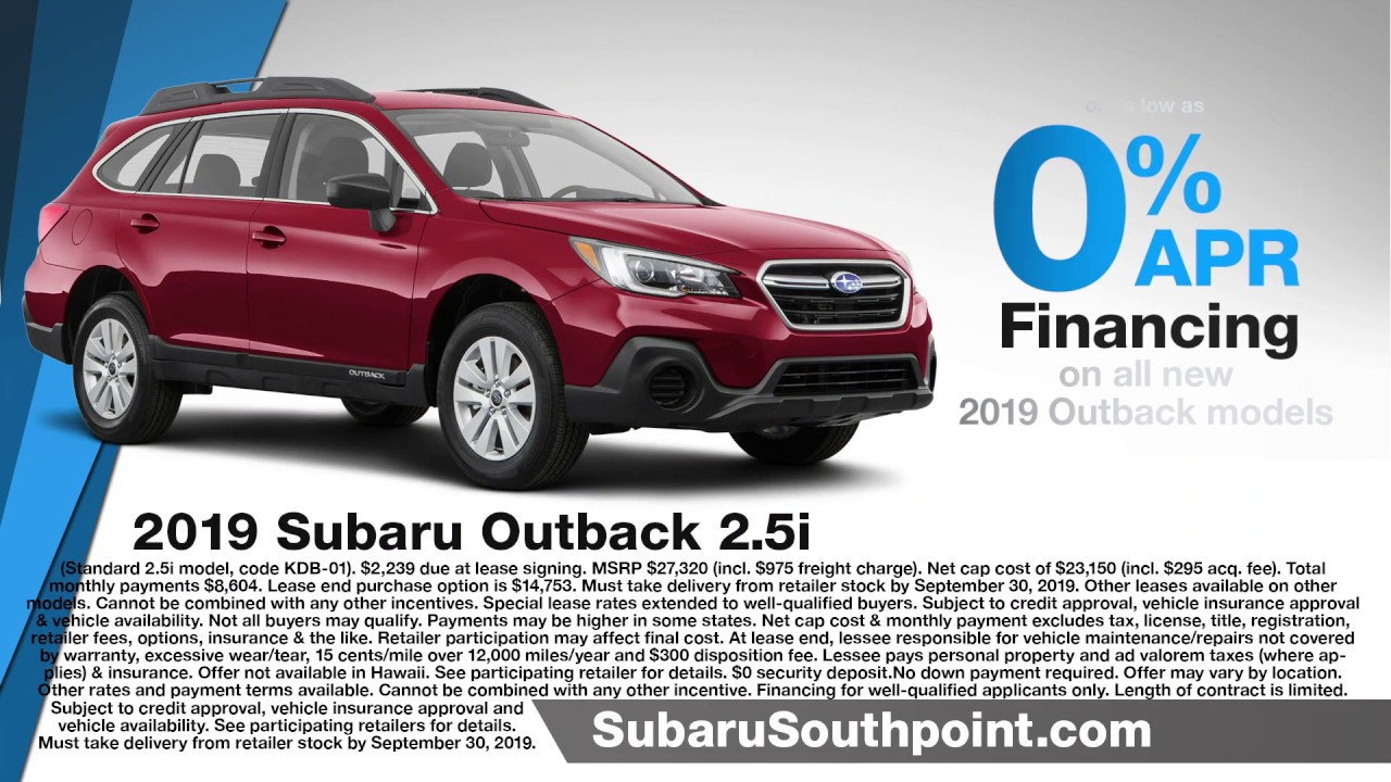 Subaru 0 Financing >> Hendrick Subaru Southpoint Outback Offer 0 Apr