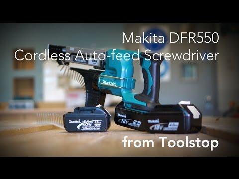 Makita DFR550 18V Cordless Li-ion Auto-Feed Screwdriver From Toolstop