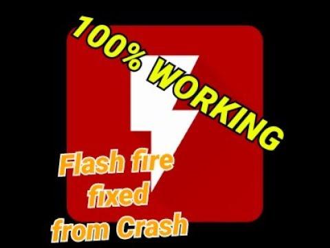 Flashfire fixed from crashing 100%