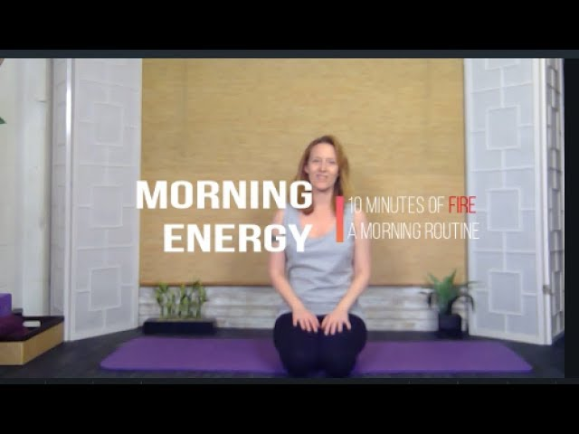Fiery Seated Morning Yoga for the Holidays | 10 minutes