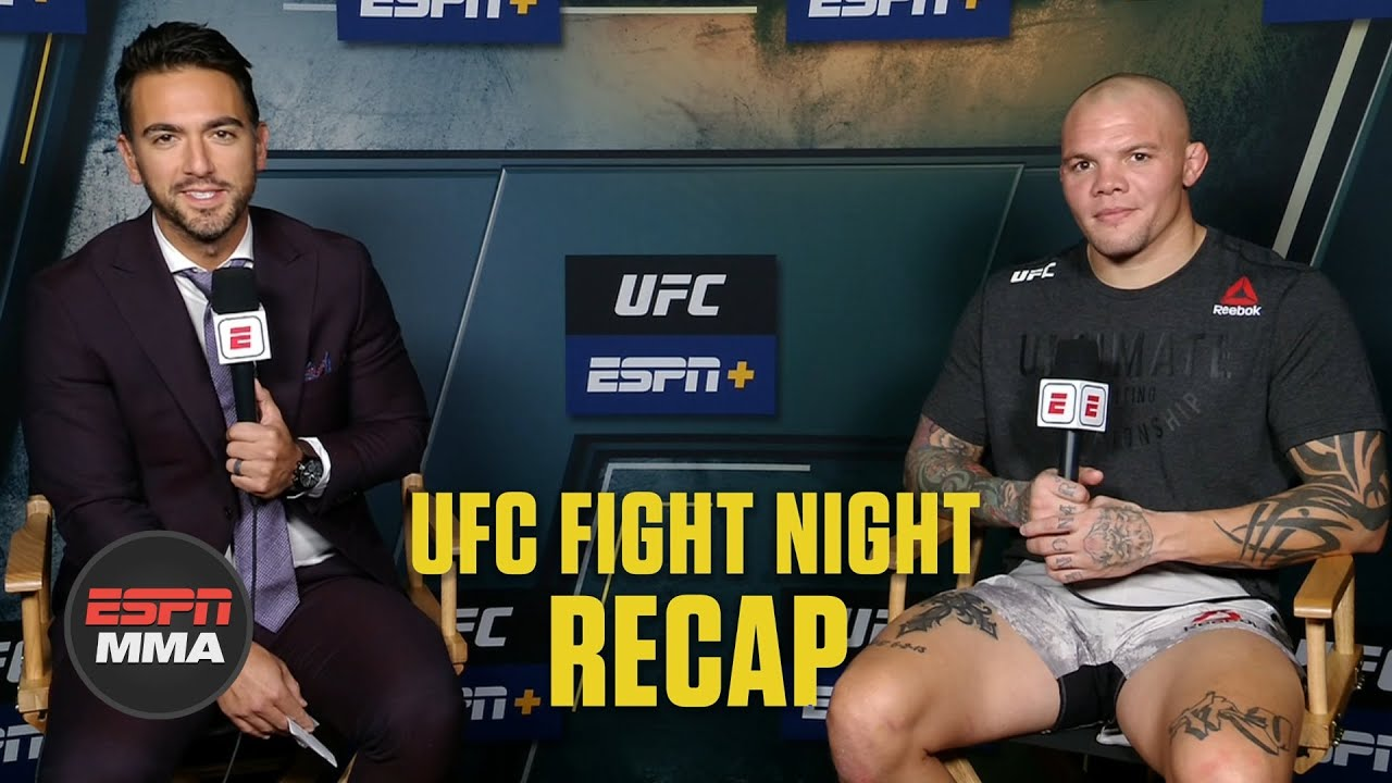 Anthony Smith feels relief after win vs. Devin Clark at #UFCVegas15 | UFC Post Show | ESPN MMA