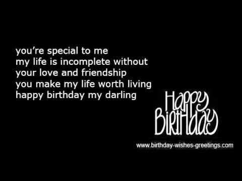 Romantic birthday wishes boyfriend or girlfriend - YouTube