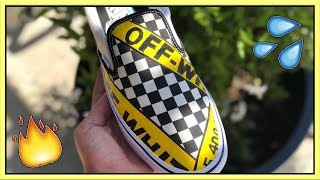 CUSTOM OFF WHITE VANS - (Tutorial)