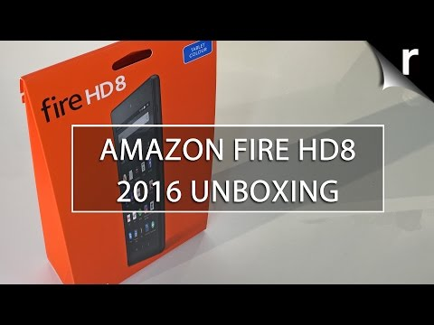 Amazon Fire HD 8 (2016) tablet unboxing and hands-on review