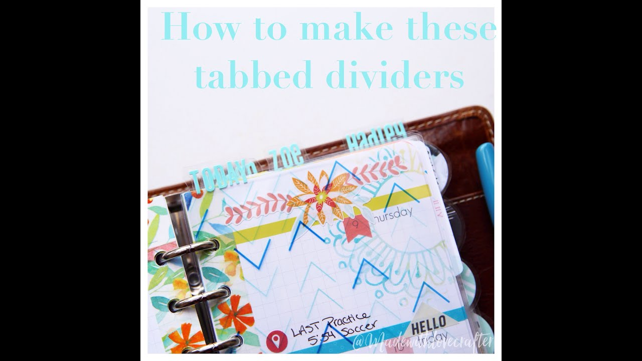 How To make tabbed dividers with words! No Silhoutte needed!