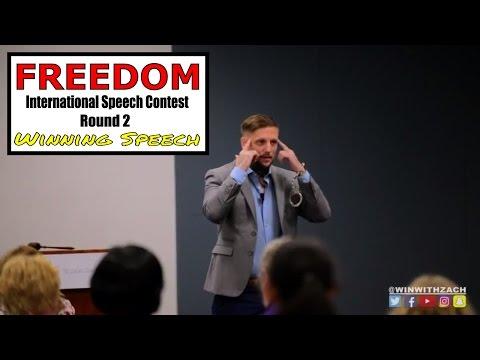 """Freedom"" Ex-Convict speech on Freedom and Mindset : Toastmasters International Speech Contest 2017"