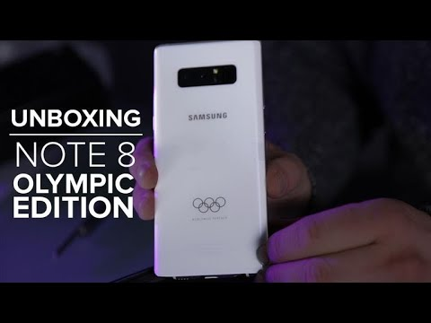 We unbox Samsung's sweet-looking Olympic Edition Galaxy Note 8