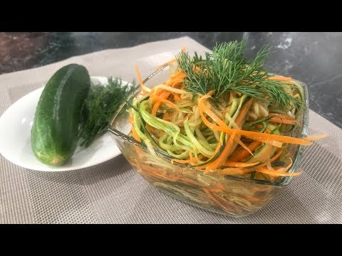 Кабачки маринованные с Морковью и Огурцами в Соевом соусе