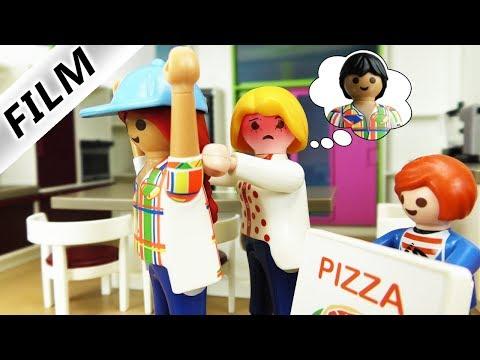 Familie Vogel - EX-FREUND ALS PIZZABOTE - Sollte Mama ihn heiraten? | Kinder Playmobil Film deutsch