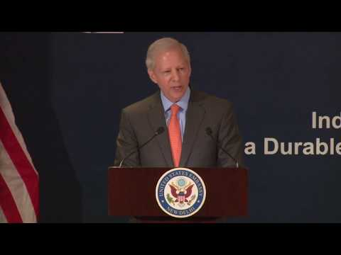 Ambassador Juster delivers his first speech in India