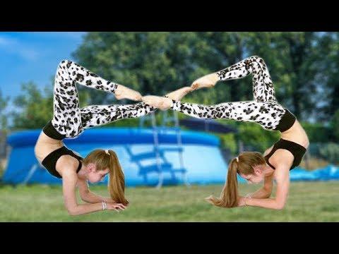 Acro Yoga in the Pool???? | Jaz and Brooke