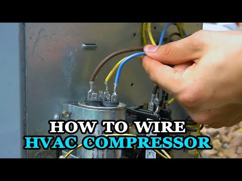 home compressor wiring diagram how to wire air conditioner compressor youtube  how to wire air conditioner compressor