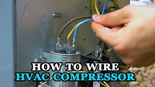 How to Wire Air Conditioner Compressor - YouTubeYouTube