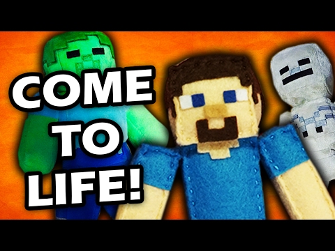 MINECRAFT PLUSHY ADVENTURE - Minecraft Plushy's Come to Life!