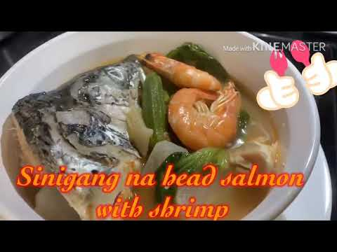Sinigang Head Of Salmon And Shrimp