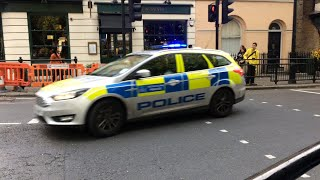 [Greenwich] London police on the way to a report.