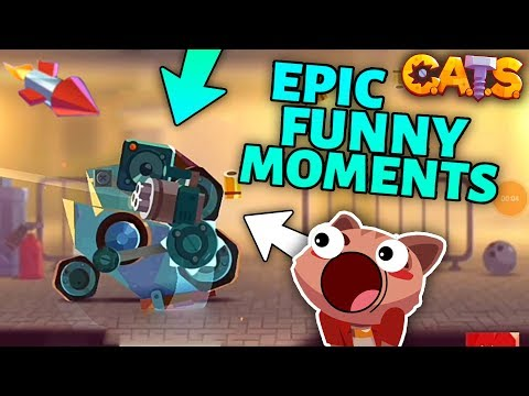 C.A.T.S EPIC FUNNY MOMENTS & BEST BATTLES - Crash Arena Turbo Stars Gameplay